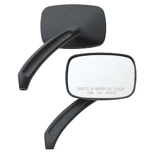 Custom Chrome Rectangular Billet Mirror Set For Harley