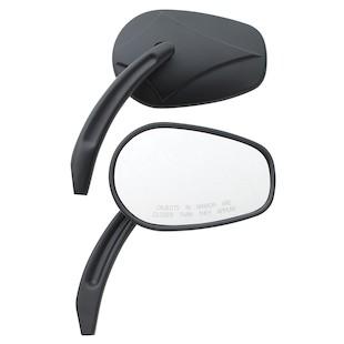 Custom Chrome Arrow Head Billet Mirror Set For Harley