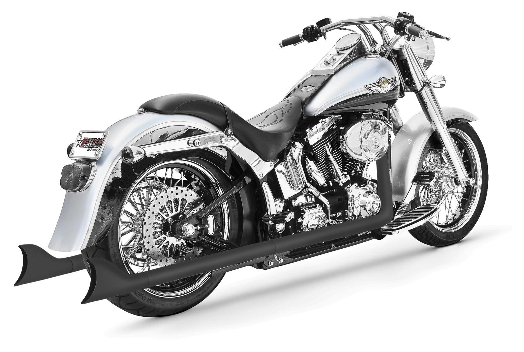 freedom performance sharktail true dual exhaust for harley softail