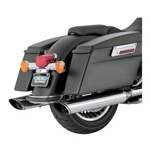 "Vance & Hines 5 1/2"" EPA Twin Slash Slip-On Mufflers For Harley Touring 2009-2011"