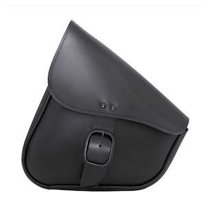Willie & Max Leather Swing Arm Saddlebag For Harley Softail 1984-2017
