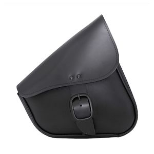 Willie & Max Leather Swing Arm Saddlebag For Harley Sportster 1986-2019