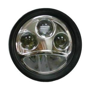 """Custom Chrome 5 3/4"""" LED Headlight Insert"""