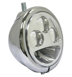 "Custom Chrome Top Mount 5 3/4"" Headlight for Harley"