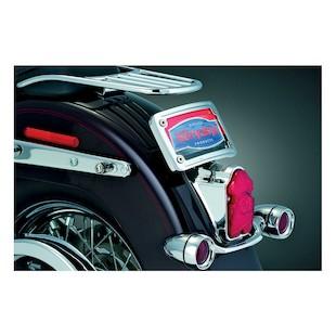 Kuryakyn Curved Laydown License Plate Mount For Harley Softail 1998-2017