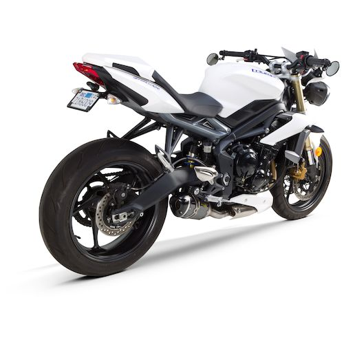 two brothers s1r slip on exhaust triumph street triple r 2013 2017 revzilla. Black Bedroom Furniture Sets. Home Design Ideas