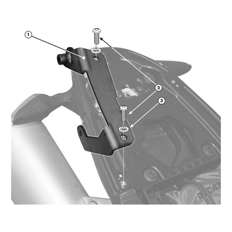 Givi 7400KIT Brackets For Side Case Racks Ducati Monster 696 / 796 / 1100