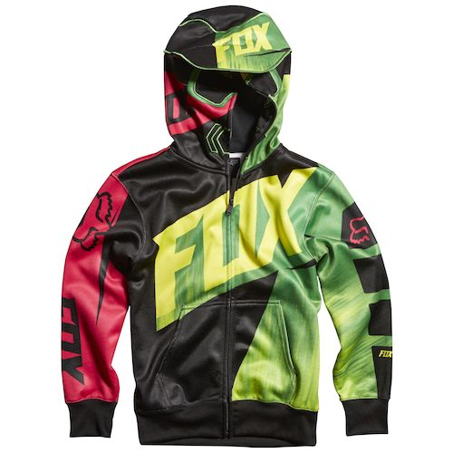 Fox Racing Youth Vandal Zip Hoody - Black