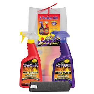 Wizards Motorcycle Cleaning Gift Bag