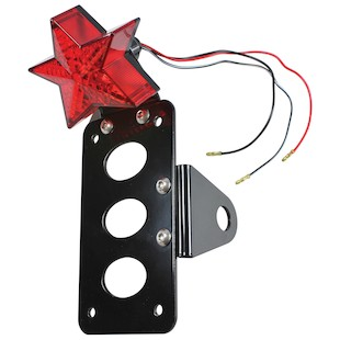 TC Bros Star Side Mount Tail Light / License Plate Bracket