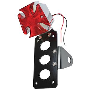 TC Bros Maltese Cross Side Mount Tail Light / License Plate Bracket
