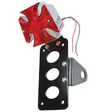 TC Bros Maltese Cross Side Mount Tail Light/License Plate Bracket