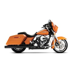 """Rinehart Slimline Duals Exhaust System With 3 1/2"""" Mufflers For Harley Touring 2009-2014"""