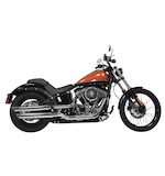 "Rush 3"" Slip-On Mufflers For Harley Softail 2007-2016"