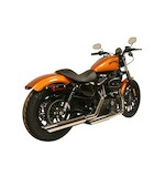 """Rush 3"""" Slip-On Mufflers For Harley Sportster 2014-2017"""