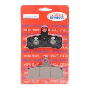 Lyndall Brakes Z-Plus Carbon / Kevlar Front Brake Pads For Harley Softail / Dyna 2008-2017