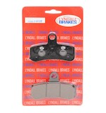 Lyndall Brakes Z-Plus Carbon / Kevlar Front Brake Pads For Harley