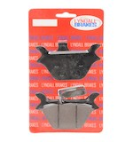Lyndall Brakes Z-Plus Carbon / Kevlar Rear Brake Pads For Harley Big Twin / Sportster 1987-1999