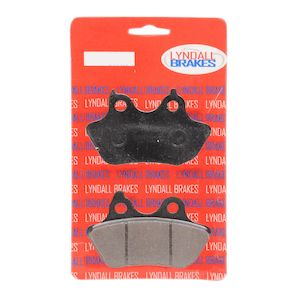 Lyndall Brakes Z-Plus Carbon / Aramid Rear Brake Pads For Harley