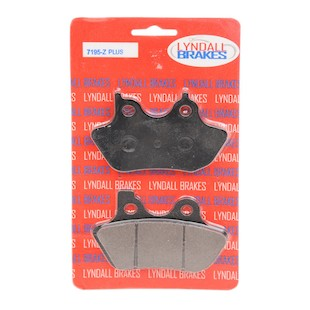 Lyndall Brakes Z-Plus Carbon / Kevlar Front / Rear Brake Pads For Harley 2000-2007