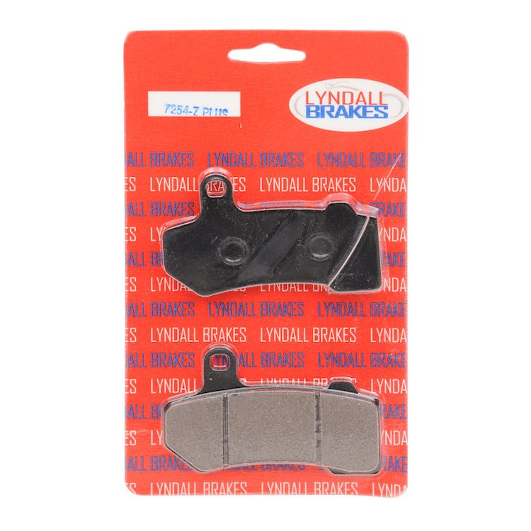 Lyndall Brakes Z-Plus Carbon / Aramid Front / Rear Brake Pads For Harley Touring / V-Rod 2006-2020