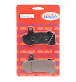 Lyndall Brakes Z-Plus Carbon / Kevlar Front / Rear Brake Pads For Harley