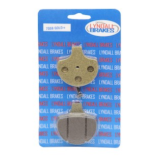 Lyndall Brakes Gold Plus Front Brake Pads For Harley Big Twin / Sportster 1984-2011