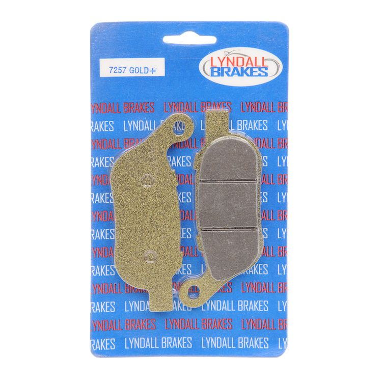Lyndall Brakes Gold Plus Rear Brake Pads For Harley Softail / Dyna 2008-2017