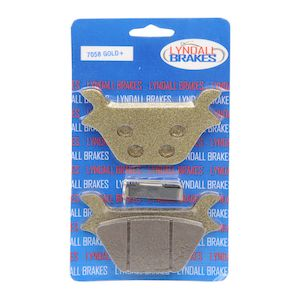 Lyndall Brakes Gold Plus Rear Brake Pads For Harley Big Twin / Sportster 1987-1999