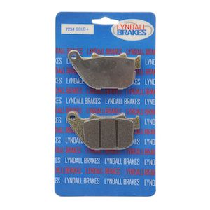 Lyndall Brakes Gold Plus Rear Brake Pads For Harley Sportster 2004-2013