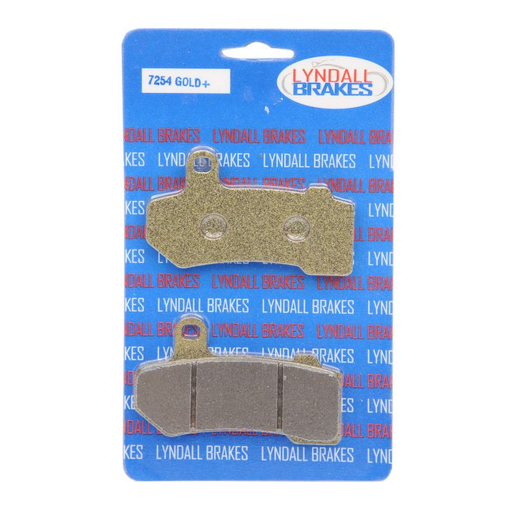 Lyndall Brakes Gold Plus Front / Rear Brake Pads For Harley Touring / V-Rod 2008-2019