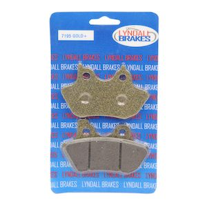 Lyndall Brakes Gold Plus Front / Rear Brake Pads For Harley 2000-2007