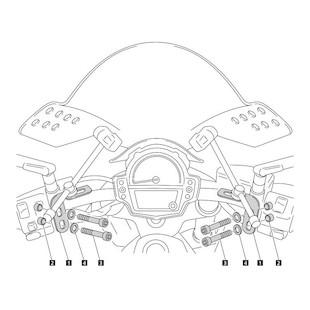 Puig Windscreen Adapter Kawasaki ER6n 2012-2013