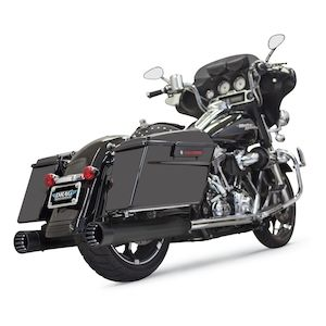 "Bassani 4"" DNT Straight Can Slip-On Mufflers For Harley Touring 1995-2016"