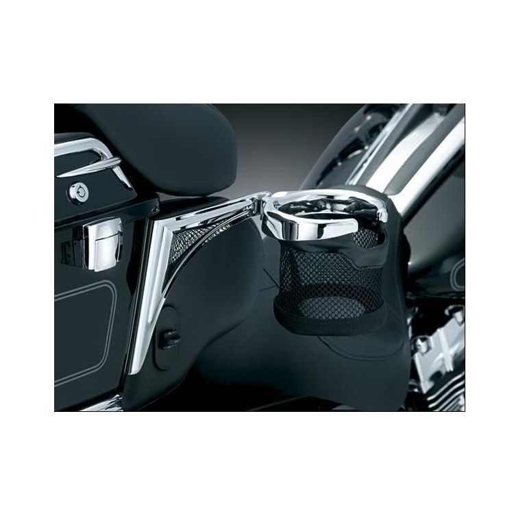 Kuryakyn Passenger Drink Holder For Harley Touring / Trike 2014-2018