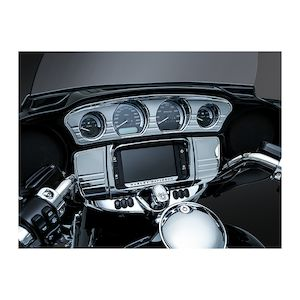 Kuryakyn Tri-Line Stereo Trim Deluxe For Harley Touring / Trike 2014-2018