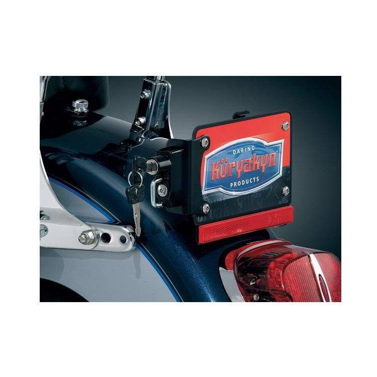 Kuryakyn Universal License Plate Helmet Lock With Mount