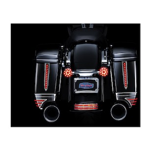 Kuryakyn LED Rear Saddlebag Accents For Harley Touring 1993-2013