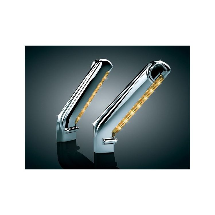 Kuryakyn LED Lighted Mirror Stem Covers For Harley 2003-2013