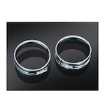 Kuryakyn Passing Lamp Trim Rings For Harley 1983-2014