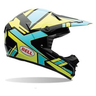 Bell SX-1 Stack Blue Motorcycle Helmet
