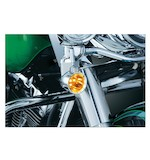 Kuryakyn LED Front Silver Bullet Turn Signal For FL Harley 1983-2015