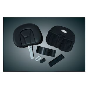 Kuryakyn Plug-N-Go Driver Backrest With Storage Pouch For Honda GoldWing 2001-2015