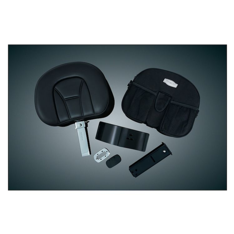 Kuryakyn Plug-N-Go Driver Backrest With Storage Pouch For Honda GoldWing 2001-2015