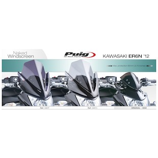 Puig Naked New Generation Windscreen Kawasaki ER6n 2012-13