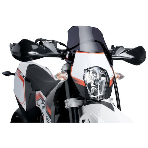 puig naked new generation windscreen ktm 690 supermoto smc r 2012 2013 revzilla. Black Bedroom Furniture Sets. Home Design Ideas