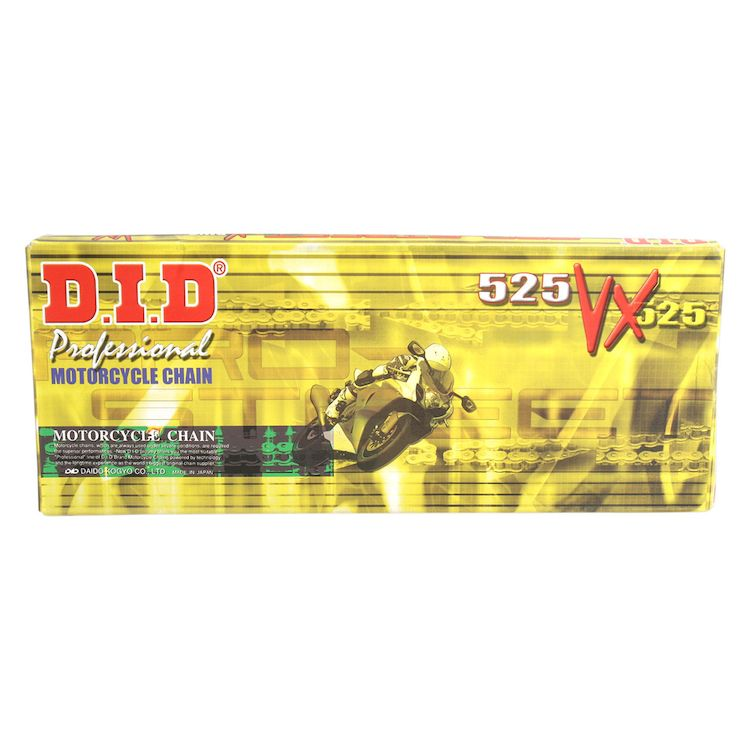 DID 525VXGB-130 Gold X-Ring Chain with Connecting Link