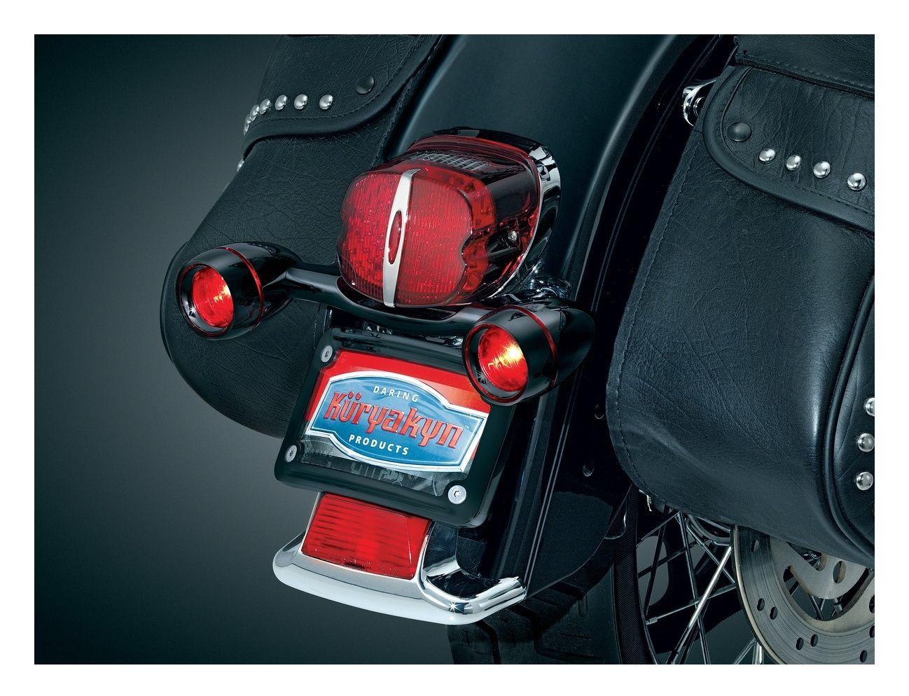 Kuryakyn Bullet Rear Turn Signal Bar Kit For Harley 1986