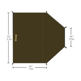 Redverz Atacama / Solo Expedition Tent Sleeping Area Groundsheet