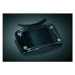 Kuryakyn Curved License Plate Frame For Kuryakyn Bullet Light Rear Turn Signal Bar